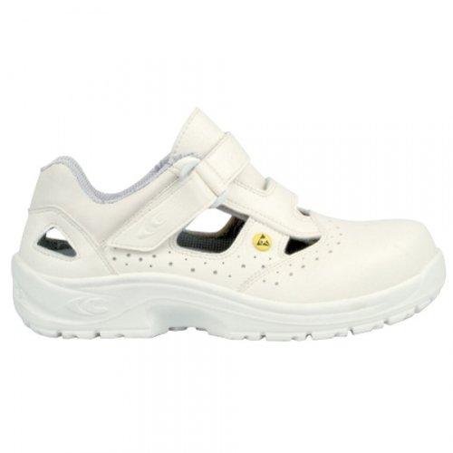 Cofra, 10190-000, Sandali di sicurezza S1 ESD SRC Speciali Servio, taglia 46, bianco