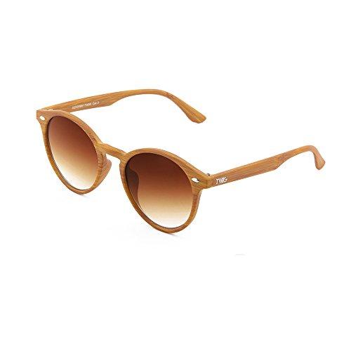Gafas de sol TWIG FLAUBERT estilo madera redondo hombre ...