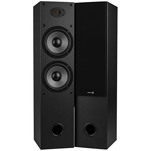 Dayton Audio T652-AIR Dual 6-1/2″ 2-Way Tower Speaker Pair with AMT Tweeter