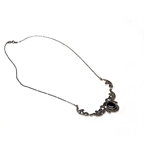 Loveyourdiamonds conçu collier en onyx pour femme aspect &/ 1000 8.7 gr-marcassite