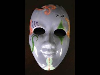 Ceramic bisque unpainted bi2130 Mask 8