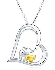 Elephant Necklace Elephant Bracelet Jewelry 925 Sterling Silver Elephant Gifts Lucky Jewelry for Elephant Lovers