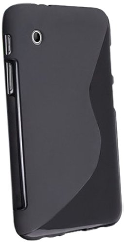 eForCity TPU Rubber Case for 7-Inch Samsung Galaxy Tab 2, Black S Shape ()