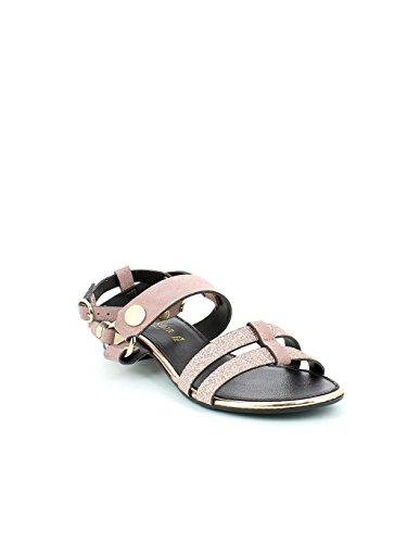 Sandale Poudrée De Couleur Basse Avec Paillettes N. 36