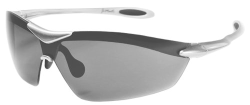 XS Sport Wrap TR90 Sunglasses UV400 Unbreakable Protection for Cycling, Ski or Golf (Silver & - Workout Sunglasses