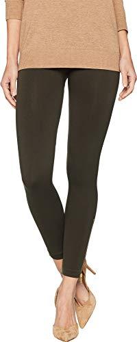 SPANX Women's Look at Me Now Seamless Side Zip Leggings Deep Olive Large 23
