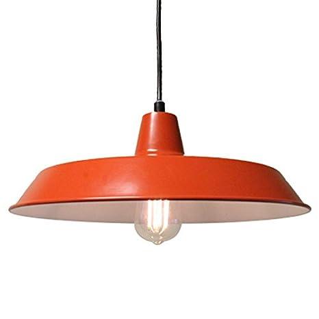 Industrial Metal Red Hanging Pendant Light, 120V Commercial Barn Warehouse  Pendant  …