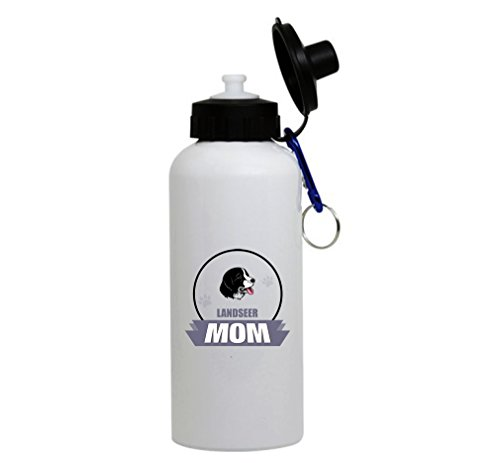 LANDSEER DOG MOM White Aluminum Water Bottle