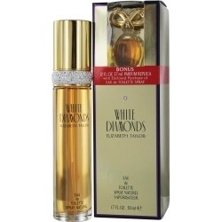 WHITE DIAMONDS by Elizabeth Taylor SET-EDT SPRAY 1.7 OZ & FREE PARFUM .12 OZ MINI for WOMEN