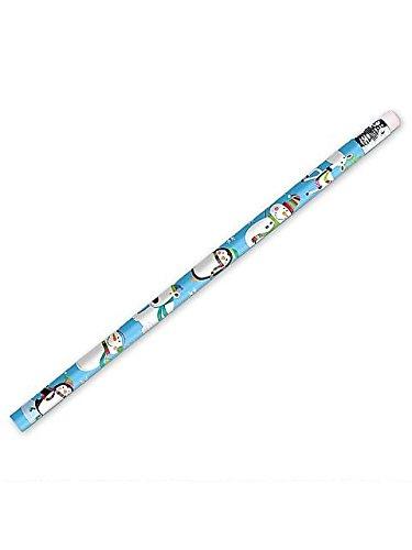 [Festive Christmas Jolly Snowman Pencil Party Favour, Wood, 7