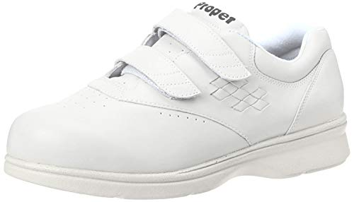 Propet Women's W3915 Vista Walker Sneaker,White Smooth,6.5 X (US Women's 6.5 EE)