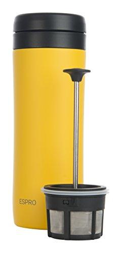 Espro Travel Coffee Press, Stainless Steel, 12 oz (Yellow)