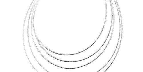 Canyon bijoux Boucles d'oreilles percées cercles en argent 925 passivé, 6.5g