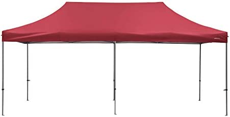 PUPZO Pop-Up Canopy Tent Gazebo 10×20 Portable Adjustable Carrying Bag Waterproof Party Camping Shelter Canopy Red