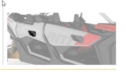 (Can Am Maverick X3 Max rear deluxe door handle kit OEM NEW #715004860)