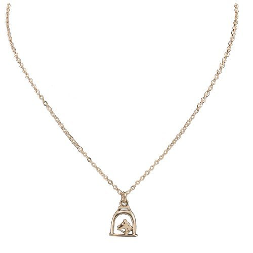 Exselle Stirrup with Horse Head Gold Plate Pendant