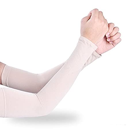 Efanr Sports Icy Cooling Arm Sleeves Sunscreen Cuff UV Sun Protective Arm Cover Gloves Skin Protection for Women Men Outdoor Activities Riding Cycling Driving (Skin - Machine Spreader Bar