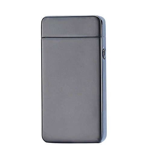 Cido silver gray metal material electronic cigarette lighter USB arc charging cigarette lighter Lighter camping outdoor