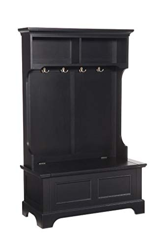(Bedford Black Hall Tree & Storage Bench by Home Styles)