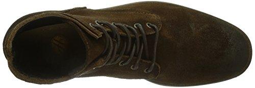 H By Hudson Mens Railton Combat Boot Pelle Scamosciata Dip Dye Brown