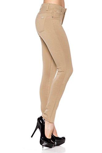 LA2NY Juniors Ponte Knit High Rise Stretch Skinny Jegging Pants
