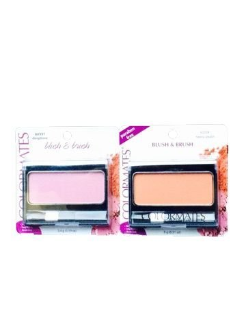 (Colormates Blush & Brush- Tawny Peach & Deeptone-2 Total Blushes)