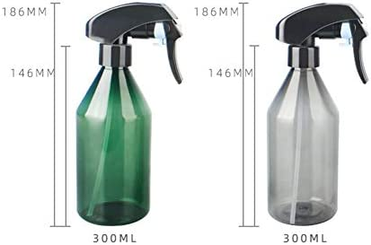 SSINI Spray Bottles with Trigger Pump, Reusable, Eco-friendly for Organic/Cleaning/Essential Oil/Plant/Hair/Pet 300ml(Green)