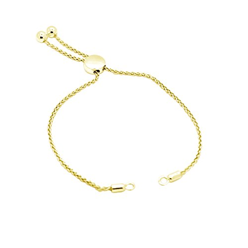 1/4 Ct Round Natural Diamond Bypass Bolo Style Bracelet In 14K Yellow Gold Over by omega jewellery (Image #1)