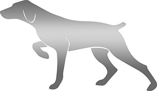 (hunting hunting pointer dog (METALLIC SILVER) (Set of 2) Premium Waterproof Vinyl Decal Stickers for Laptop MacBook Phone Tablet Helmet Car Window Bumper Mug Tuber Cup Door Wall Decoration)