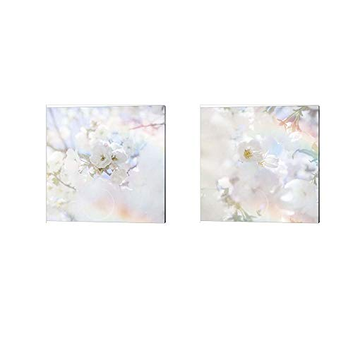 Apple Blossoms by LightBoxJournal, 2 Piece Canvas Art Set, 10 X 10 Inches Each, Floral Art