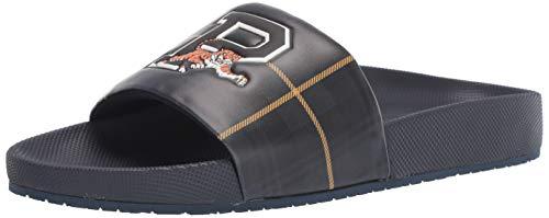 Polo Ralph Lauren Men's Cayson Slide Sandal, Tartan Multi, 12 D US