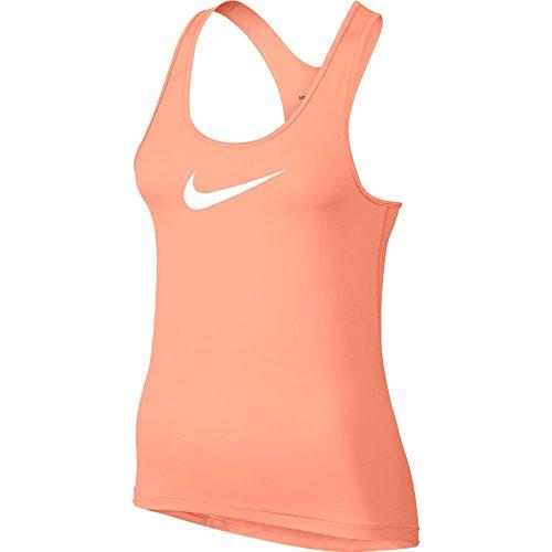 Sunset Womens Tank Top (Nike Womens Pro Cool Training Tank Top Sunset Glow/White 725489-832 Size Small)