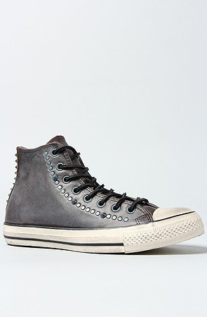 10564446ded3 Converse JOHN VARVATOS CHUCK TAYLOR ALL STAR STUDDED HI TOP CHOCOLATE  SNEAKERS (9.5)
