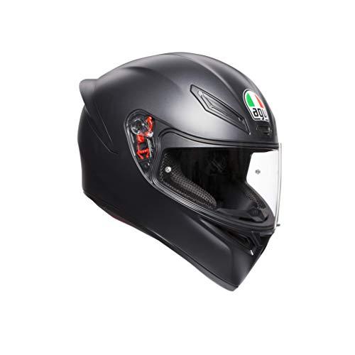 AGV Unisex K1 Agv E2205 Solid Motorrad Helm, Matt Schwarz, M-L EU