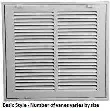 return air filter grille 25 x 14 - 8