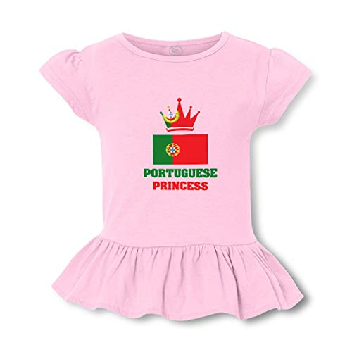 Portuguese Princess Short Sleeve Toddler Cotton Girly T-Shirt Tee - Soft Pink, 2T