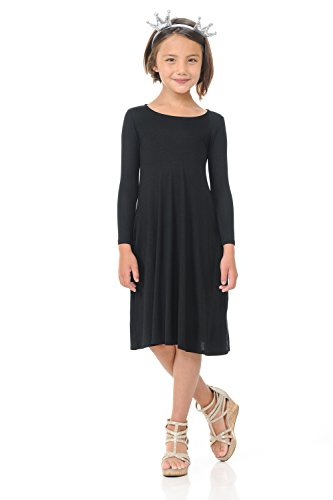 Pastel by Vivienne Honey Vanilla Girls' Trapeze Dress with Easy Removable Label X-Large 11-12 Years Black
