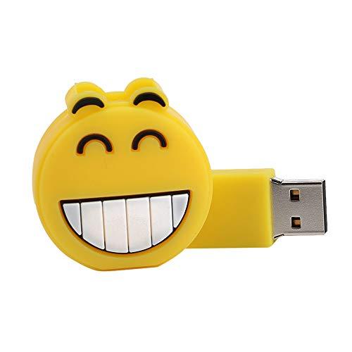 Data Storage Digital U Disk - Pausseo USB 2.0 Halloween Emoji Toothy Smile Portable Phone Computer Big Capacity Flash Drive Memory Stick Storage Pen Smart Mobile Mini Keychain Buckle (4GB) -