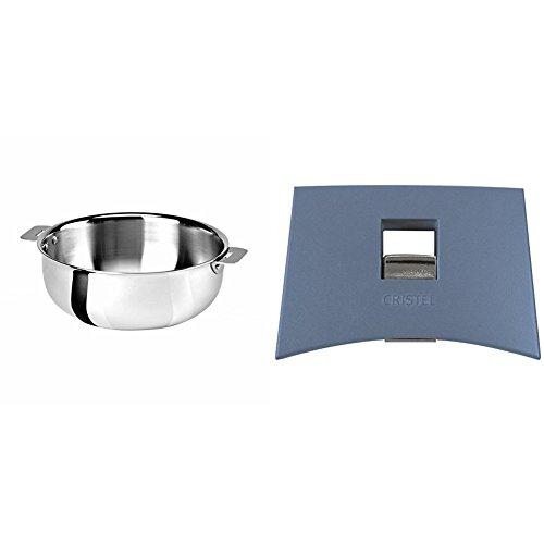 Cristel SR22QMP Saucier, Silver, 3 quart with Cristel Mutine Plmabl Side Handle, Lavender by
