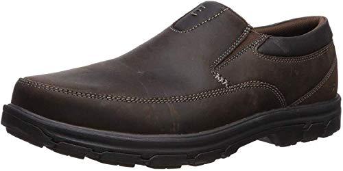 Skechers Men's Segment The Search Slip On Loafer,Dark Brown,7 M US (Best Dress Shoe Companies)