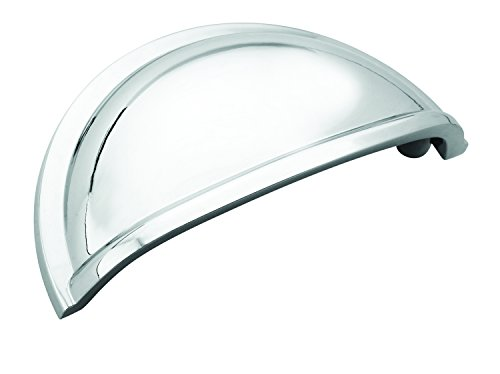 Cup Pulls 3 in (76 mm) Center-to-Center Polished Chrome Cabinet Cup Pull - 5 Pack - 5BX5301026