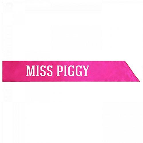 America Costume Miss Sash (Miss Piggy Anti-Trump Halloween Costume: Adult Satin Party)