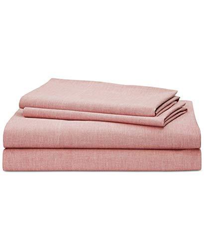 Lauren Ralph Lauren Graydon SoftWeave 144, 3-Pc. Twin Sheet Set Nantucket Red ()
