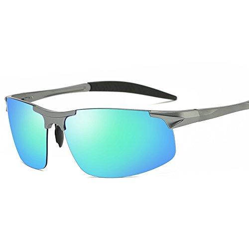 conducen Glasses Gafas Silver film Polarizer green Los Que Polarizer Film Framed Polarizing de Framed Blue Chennnnnn Sol Hombres wqFxqR