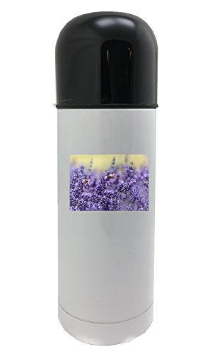 Lavender, Bee, Summer, Purple, Garden 350ml white thermos
