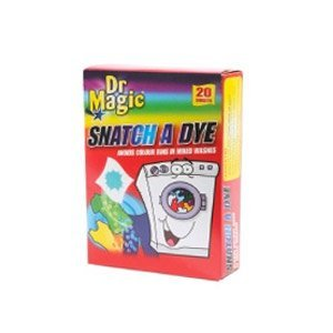 Dr Magic Snatch A Dye Avoids Colour Runs in Mixed Washes 20 Sheets by Dr Magic