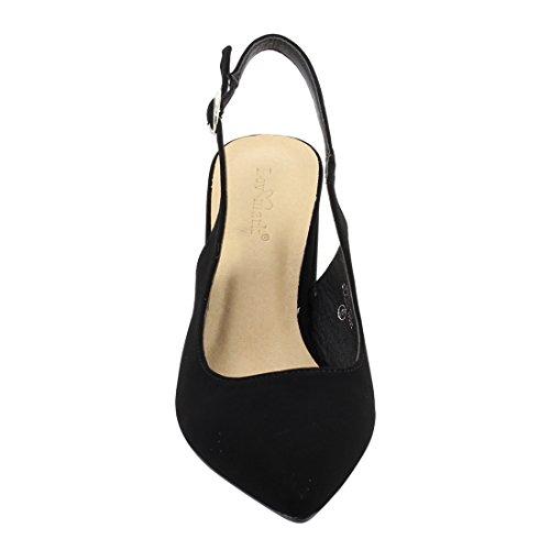 Lovmark Fq00 Womens Cinturino Alla Caviglia Con Cinturino Posteriore Con Tacco Grosso Nero