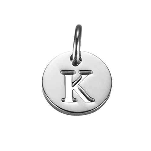 (Initial Charm Necklace Bracelet Charm Small Pendant (K))