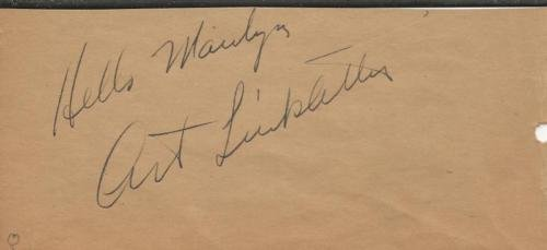(Art Linkletter Signed Vintage Album Page Kids Say the Darndest Things B)