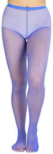 ToBeInStyle Women's Seductive Spandex Fishnet Pantyhose - Royal